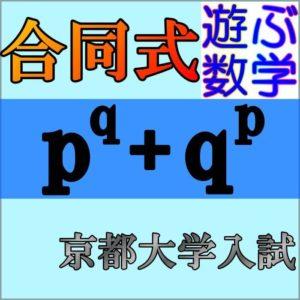 合同式(mod)を応用して京大入試問題を解こう【不定方程式の問題も解説】
