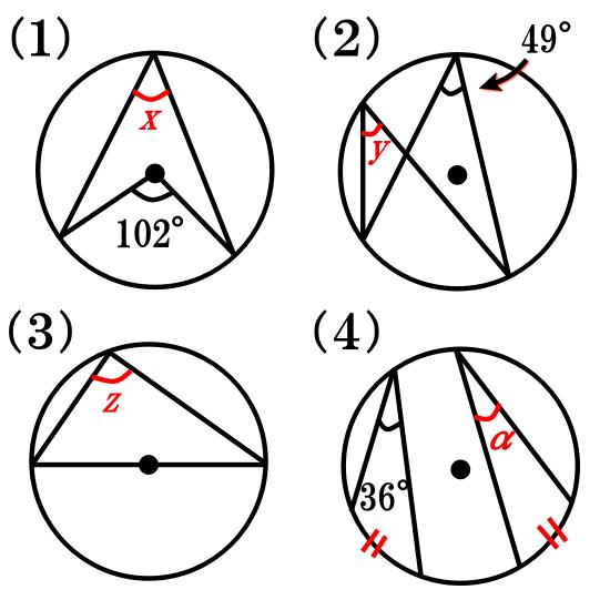 円周角の定理について