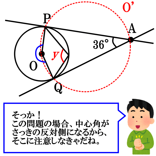 円周角の定理の逆を用いる円の接線の問題その2解答