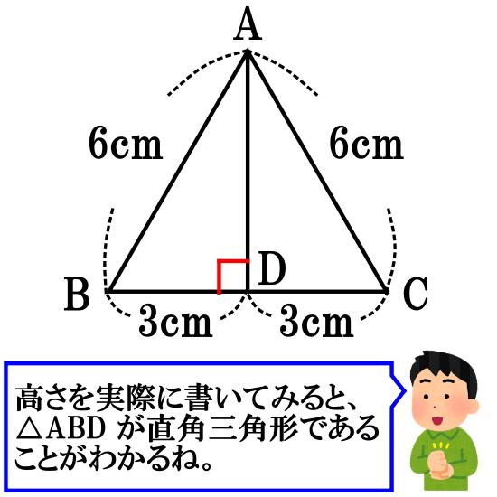 正三角形の高さと面積