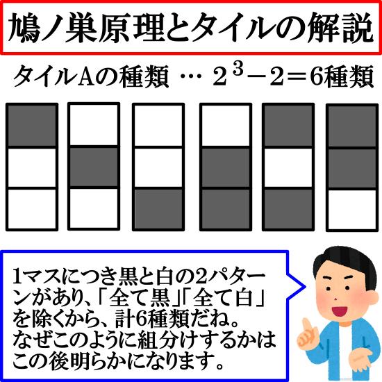 【鳩ノ巣原理】タイルの問題の解説(超良問)