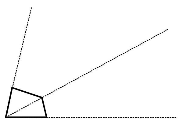 拡大図・縮図の問題2【四角形の拡大図を作図する問題】
