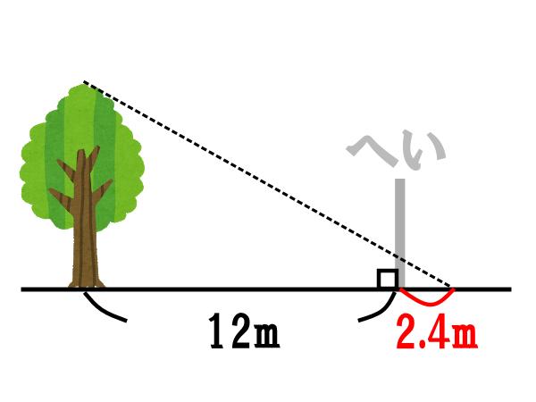 もしもへいがなかったら…で考える【木の高さを求める問題の解答例】
